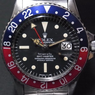 Rolex 1675 GMT Master Original Tiffany   #Status ; Sold#<br>Status : Sold Serial : 2,7xx,xxx Year : 1971 Movement : 1570
