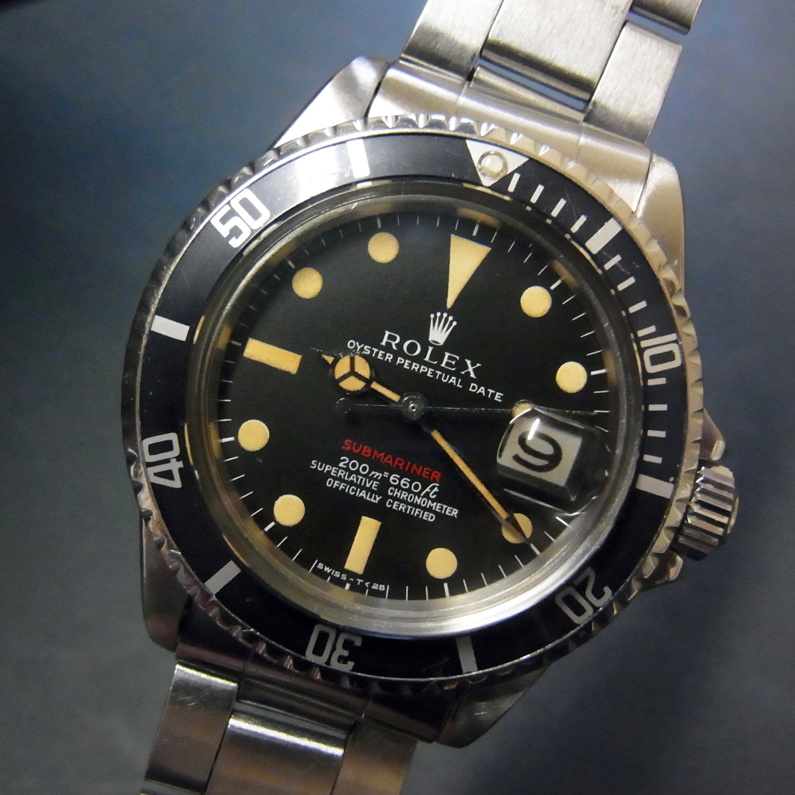 Rolex 1680 MK1 Red Submariner Excellent Patina #status ; Sold#<br>Status : Sold Condition : mint Serial : 218xxxx Year : 1969 Movement : 1570