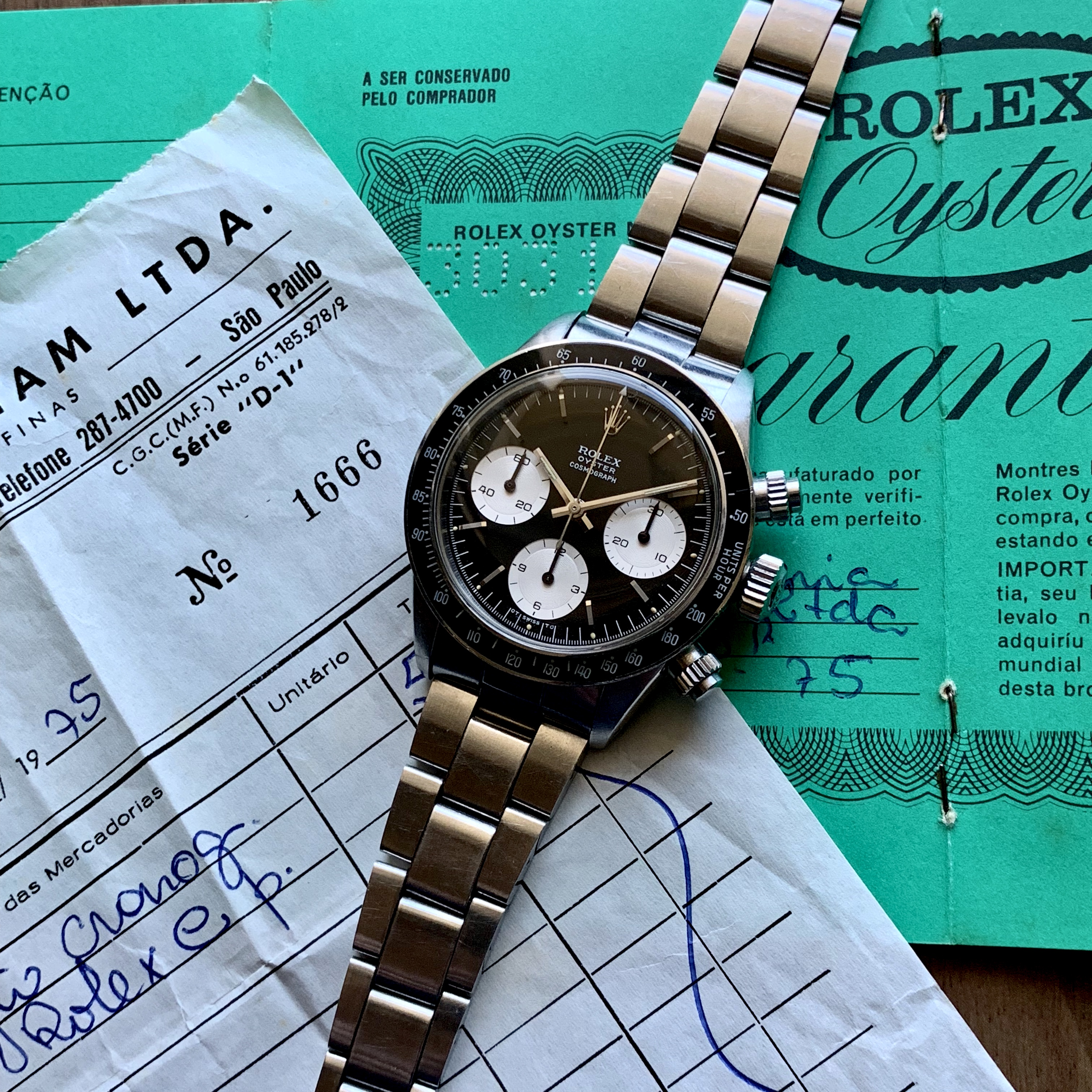 Rolex Ref 6263 sigma MK1 Box and Papers Circa 1972 Status Sold