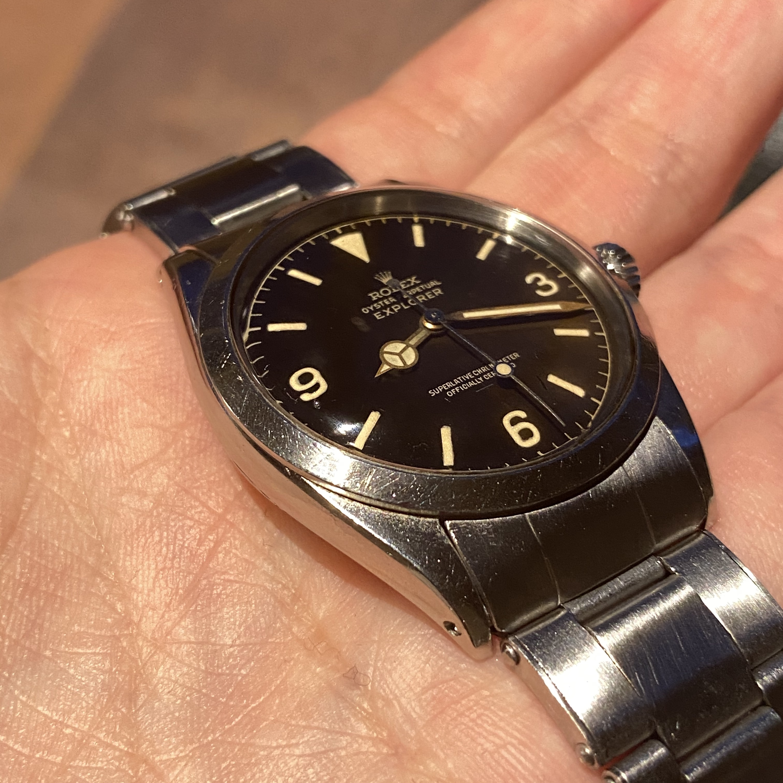 Rolex 1016 underline with chapter ring in tropical 1963 #status : sold