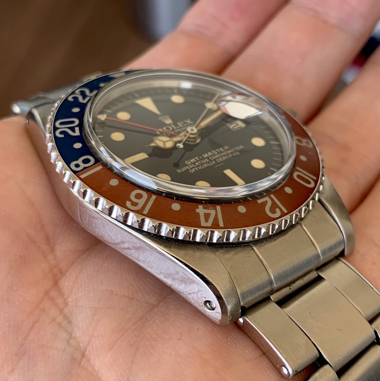 Rolex 1675 GMT underline single Swiss Circa 1963 #Status : Sold