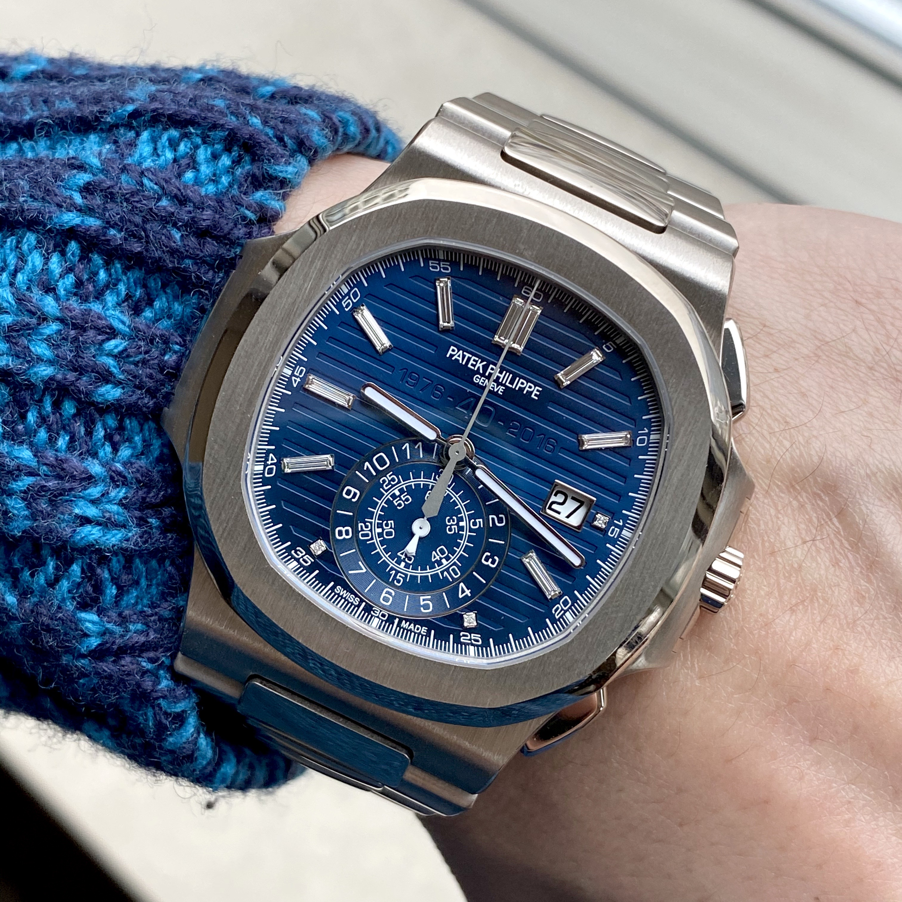 Patek Philippe Ref 5976/1G Nautilus 40th anniversary limited edition #status : sold